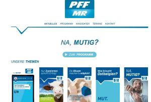 NA, MUTIG? – Die Wahlwebseite der PFF Themen, Kandidaten, Programm
