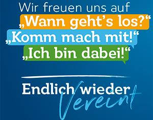 """Monat der Vereine: Veranstaltungsreihe """"Endlich wieder vereint"""""""